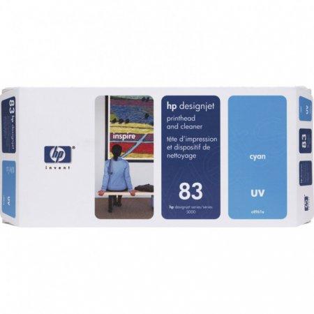 Original C4961A (HP 83) Printhead and Cleaner, Cyan UV