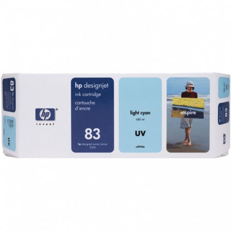 Original C4944A (HP 83) Ink Cartridges, Light Cyan