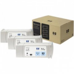 Original C5076A (HP 83) Ink Cartridges, High-Yield Light Cyan