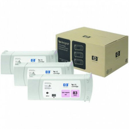Original C5077A (HP 83) Ink Cartridges, High-Yield Light Magenta