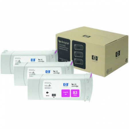 Original C5074A (HP 83) Ink Cartridges, High-Yield Magenta