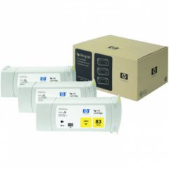 Original C5075A (HP 83) Ink Cartridges, High-Yield Yellow