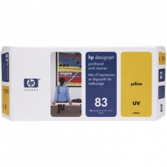 Original C4963A (HP 83) Printhead and Cleaner, Yellow UV