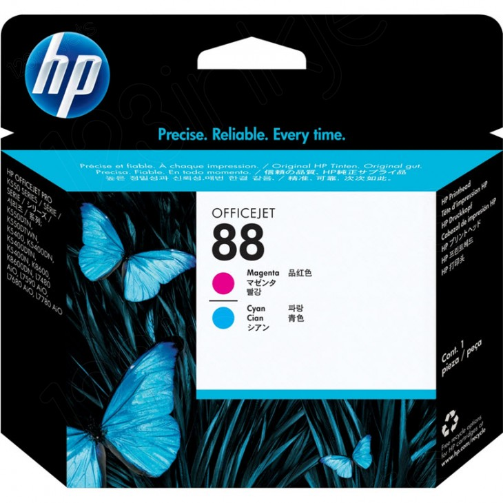 Original C9382A (HP 88) Ink Cartridge Printhead, Cyan & Magenta