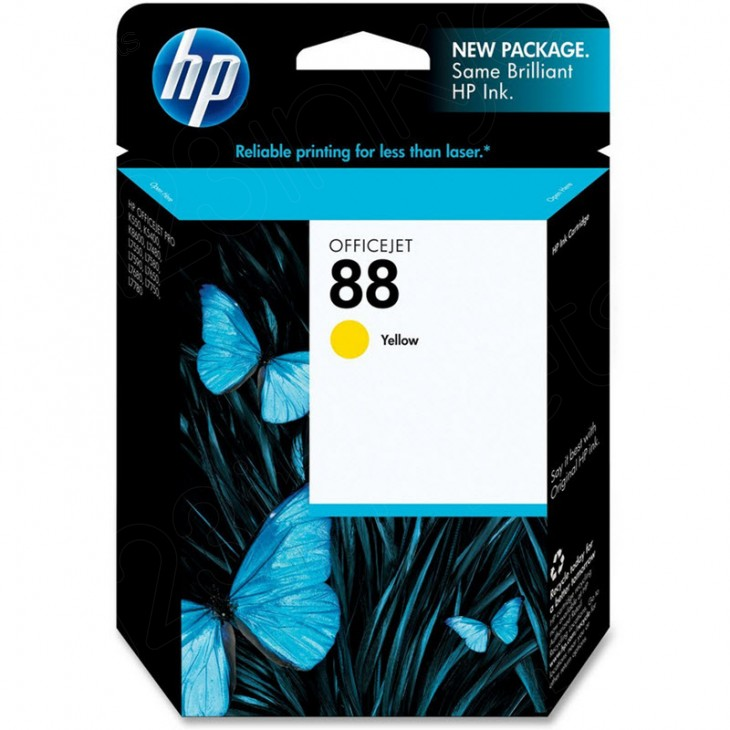 Original C9388AN (HP 88) Ink Cartridges, Yellow