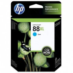 Original C9391AN (HP 88XL) Ink Cartridges, High-Yield Cyan