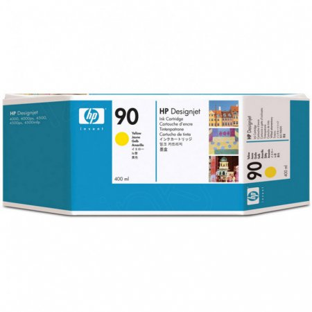Original C5065A (HP 90) Ink Cartridges, High-Yield Yellow