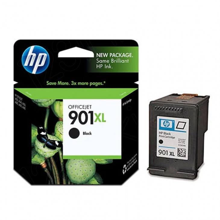 Original CC654AN (HP 901XL) Ink Cartridges, High-Yield Black