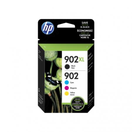 HP 902XL, Hewlett Packard T0A39AN high yield black,cyan,magenta,yellow original ink cartridges.