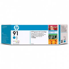 Original C9467A (HP 91) Ink Cartridges, Cyan