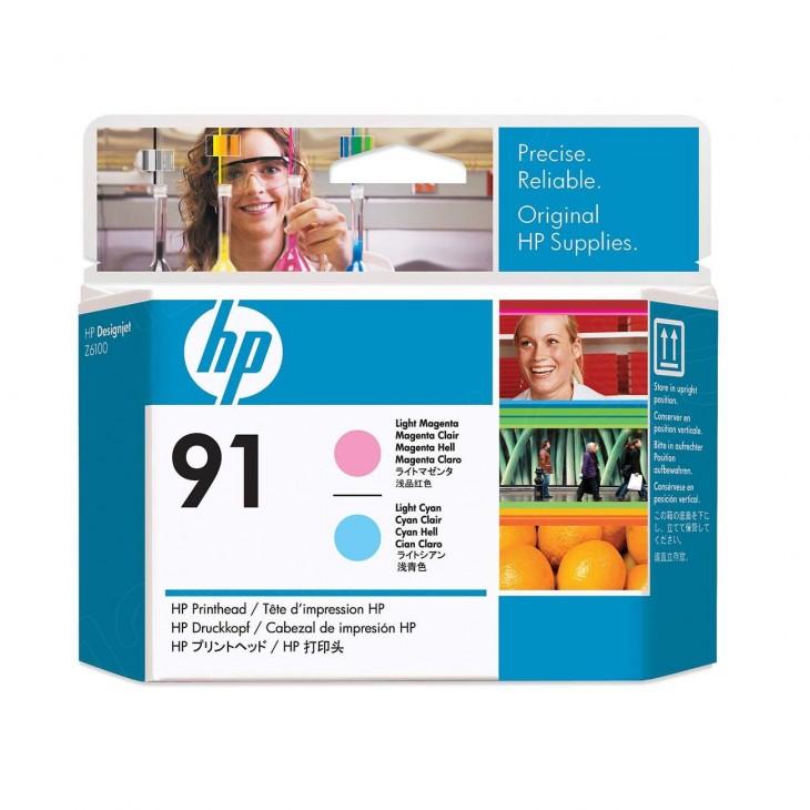 Original C9462A (HP 91) Ink Cartridge Printhead, Light Cyan & Light Magenta
