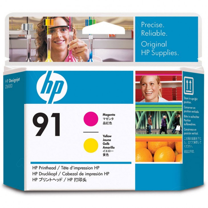 Original C9461A (HP 91) Ink Cartridge Printhead, Magenta & Yellow