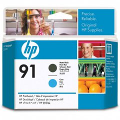 Original C9460A (HP 91) Ink Cartridge Printhead, Matte Black & Cyan