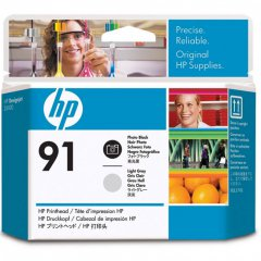 Original C9463A (HP 91) Ink Cartridge Printhead, Photo Black & Light Gray