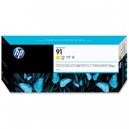 Original C9469A (HP 91) Ink Cartridges, Yellow