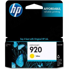 Original CH636AN (HP 920) Ink Cartridges, Yellow