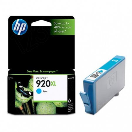 Original CD972AN (HP 920XL) Ink Cartridges, High-Yield Cyan