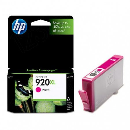 Original CD973AN (HP 920XL) Ink Cartridges, High-Yield Magenta