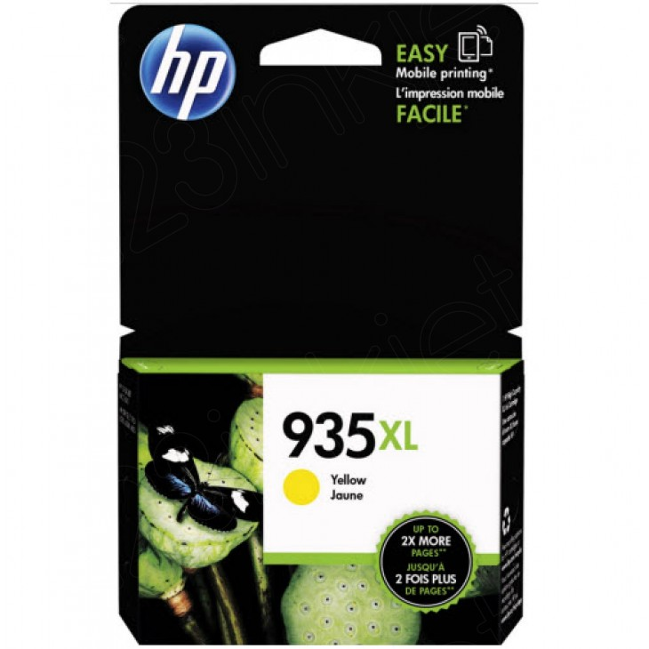 Original C2P26AN (HP 935XL) Ink Cartridges, High-Yield Yellow
