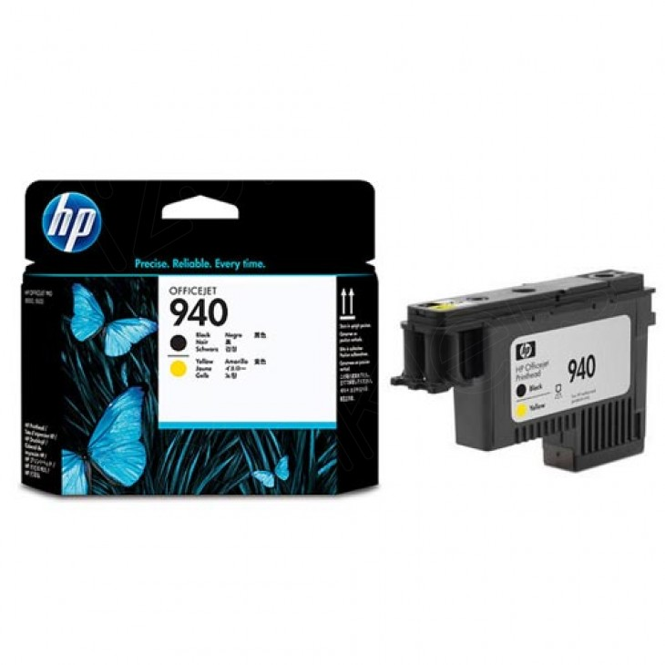 Original C4900A (HP 940) Ink Cartridge Printhead, Black & Yellow