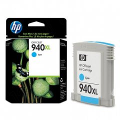 Original C4907AN (HP 940XL) Ink Cartridges, High-Yield Cyan