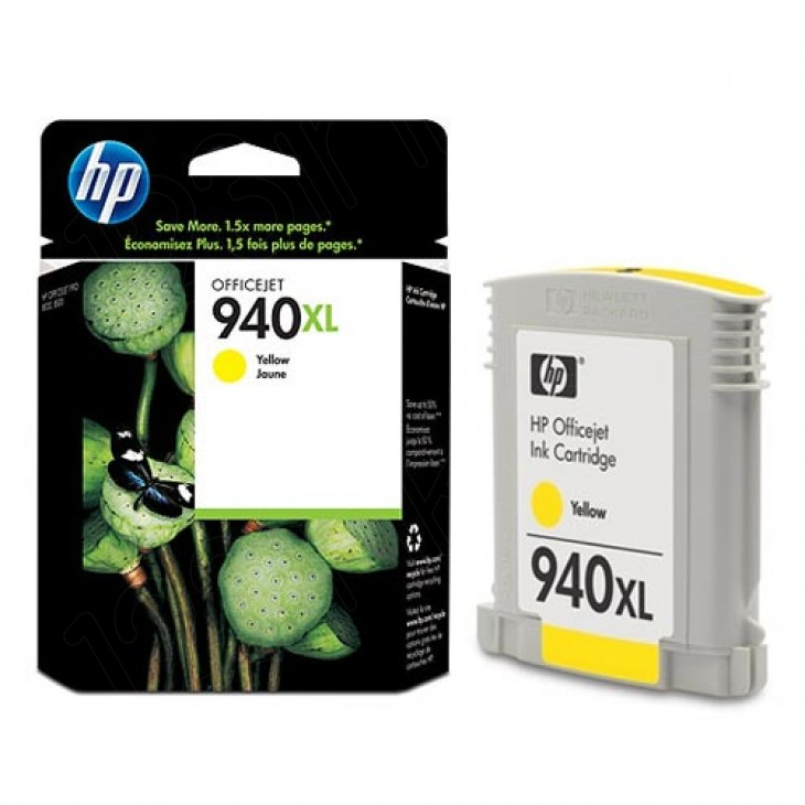 Original C4909AN (HP 940XL) Ink Cartridges, High-Yield Yellow