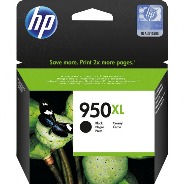 Original CN045AN (HP 950XL) Ink Cartridges, High-Yield Black