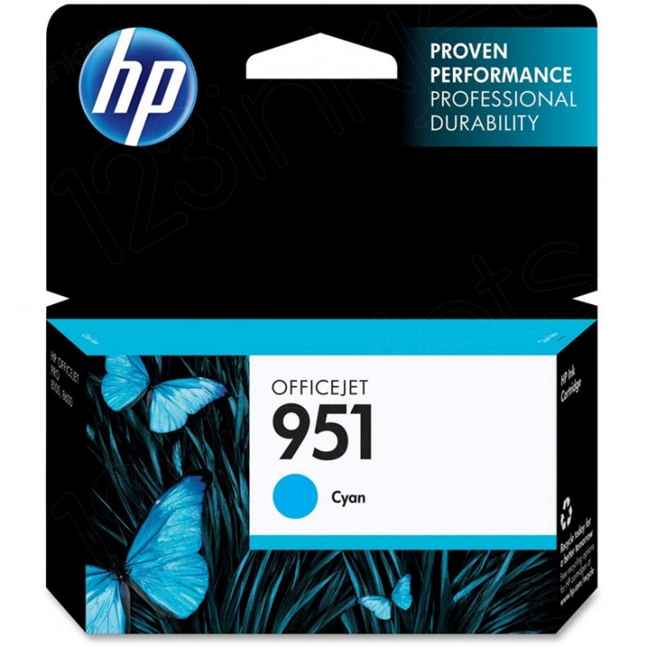 Original CN050AN (HP 951) Ink Cartridges, Cyan