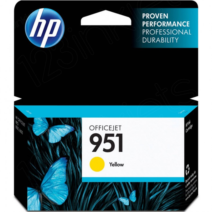 Original CN052AN (HP 951) Ink Cartridges, Yellow