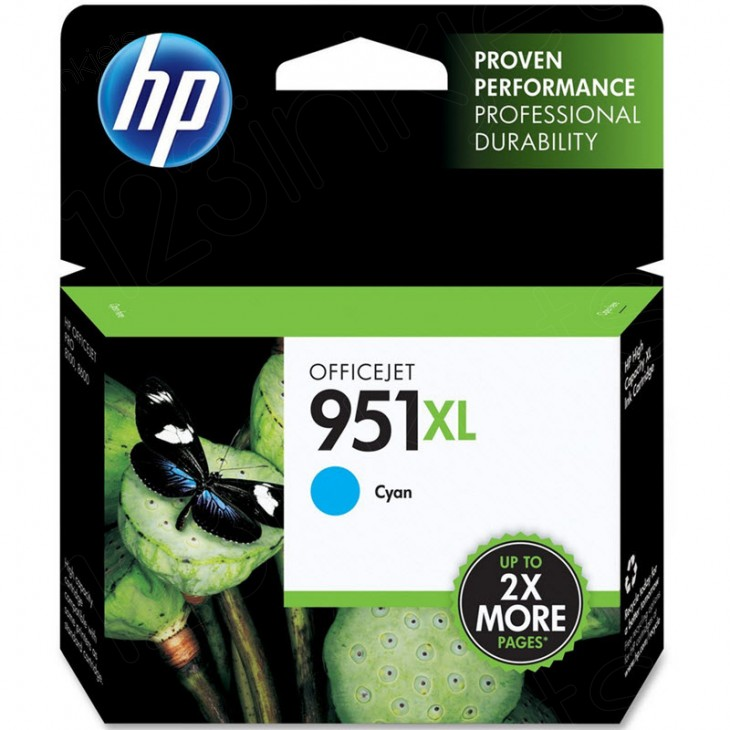 Original CN046AN (HP 951XL) Ink Cartridges, High-Yield Cyan
