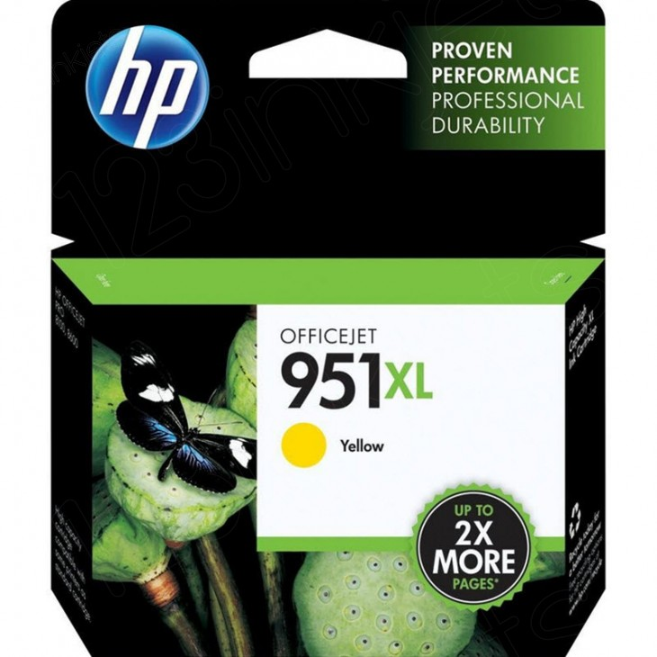 Original CN048AN (HP 951XL) Ink Cartridges, High-Yield Yellow