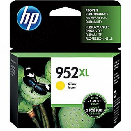 Original L0S67AN (HP 952XL) Ink Cartridges, High Yield Yellow
