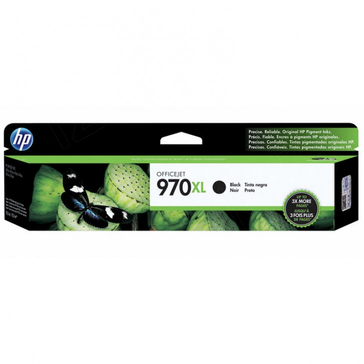Original CN625AM (HP 970XL) Ink Cartridges, High-Yield Black