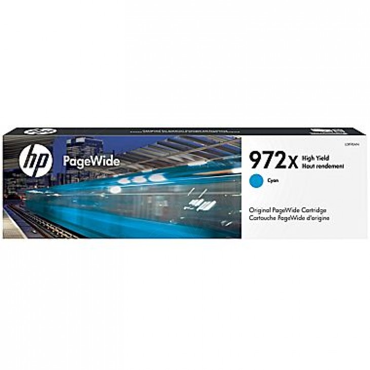 Original L0R98AN (HP 972X) Cartridges, High Yield Cyan