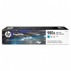 Original L0R09A (HP 981X) Ink Cartridges, High Yield Cyan