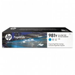 Original L0R13A (HP 981Y) Ink Cartridges, Extra High Yield Cyan