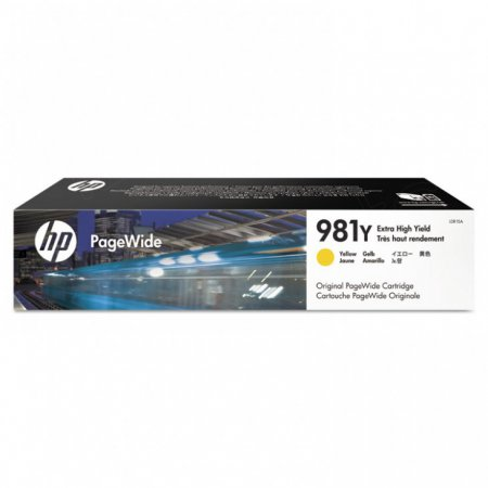 Original L0R15A (HP 981Y) Ink Cartridges, Extra High Yield Yellow
