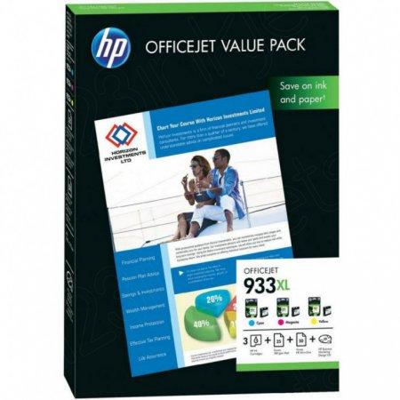933XL Original HP Ink & A4 Paper Pack
