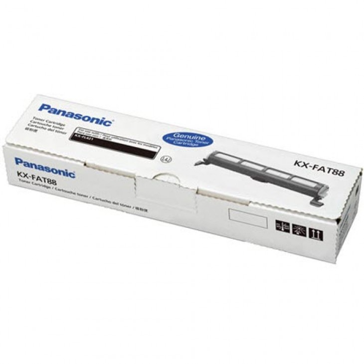 Original Panasonic KXFAT88 Black Toner