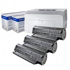 Pantum Bundle - P2000 Printer, 1 Starter Cartridge and 2 High-Yield Black Laser Toner Cartridges (PB110H)
