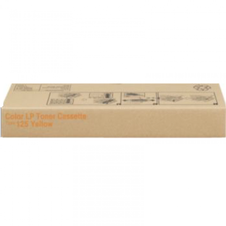 Ricoh 400981 (Type 125) Yellow OEM Laser Toner Cartridge