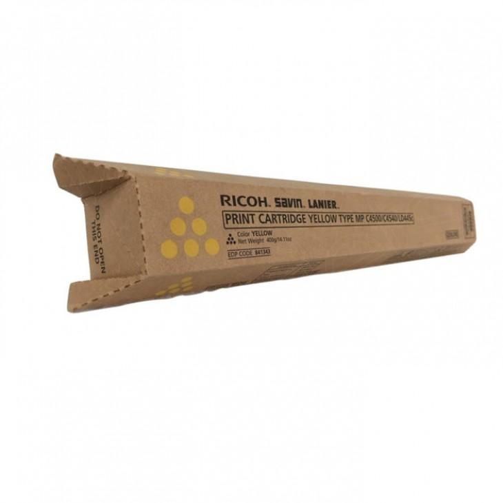 Ricoh 841343 High-Yield Yellow OEM Laser Toner Cartridge