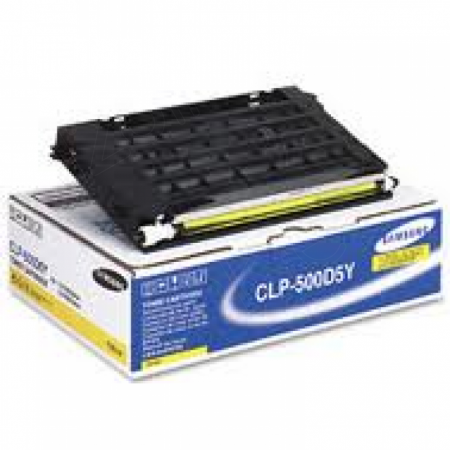 Samsung CLP-500D5Y Yellow OEM Laser Toner Cartridge
