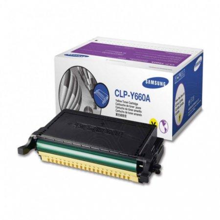 Samsung CLP-Y660A Yellow OEM Laser Toner Cartridge