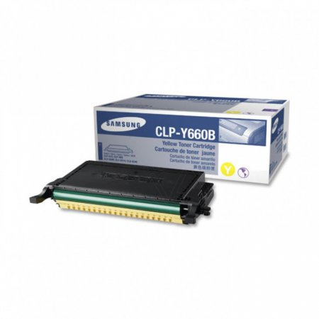 Samsung CLP-Y660B High Yield Yellow OEM Toner Cartridge