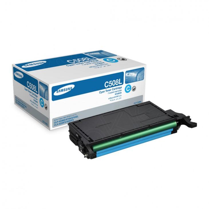 Samsung CLT-C508L High Yield Cyan OEM Laser Toner Cartridge
