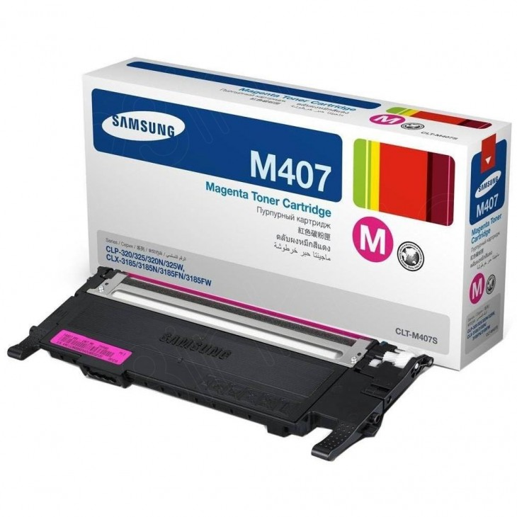 Samsung CLT-M407S Magenta OEM Laser Toner Cartridge