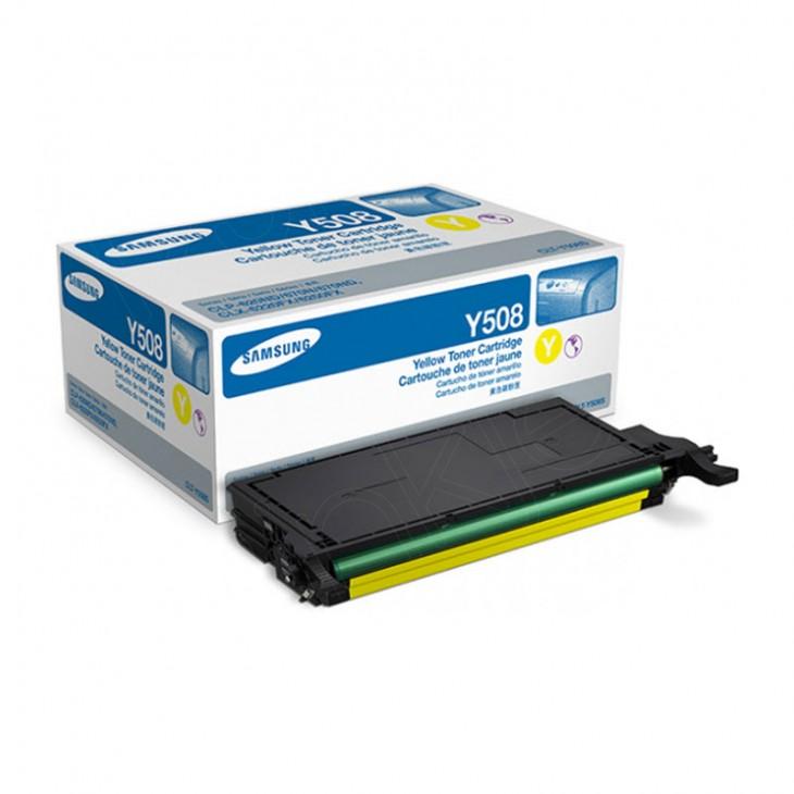 Samsung CLT-Y508S Yellow OEM Laser Toner Cartridge