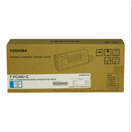 Toshiba T-FC34-UC Cyan OEM Laser Toner Cartridge