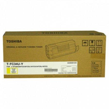 Toshiba T-FC34-UY Yellow OEM Laser Toner Cartridge